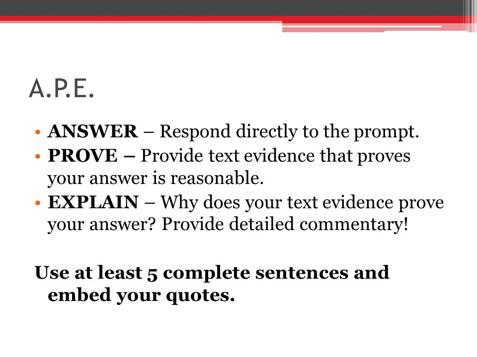 A.P.E. ANSWER – Respond directly to the prompt.