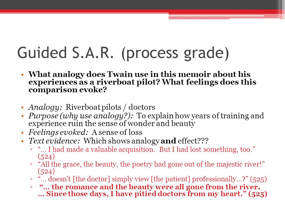 Guided S.A.R. (process grade)
