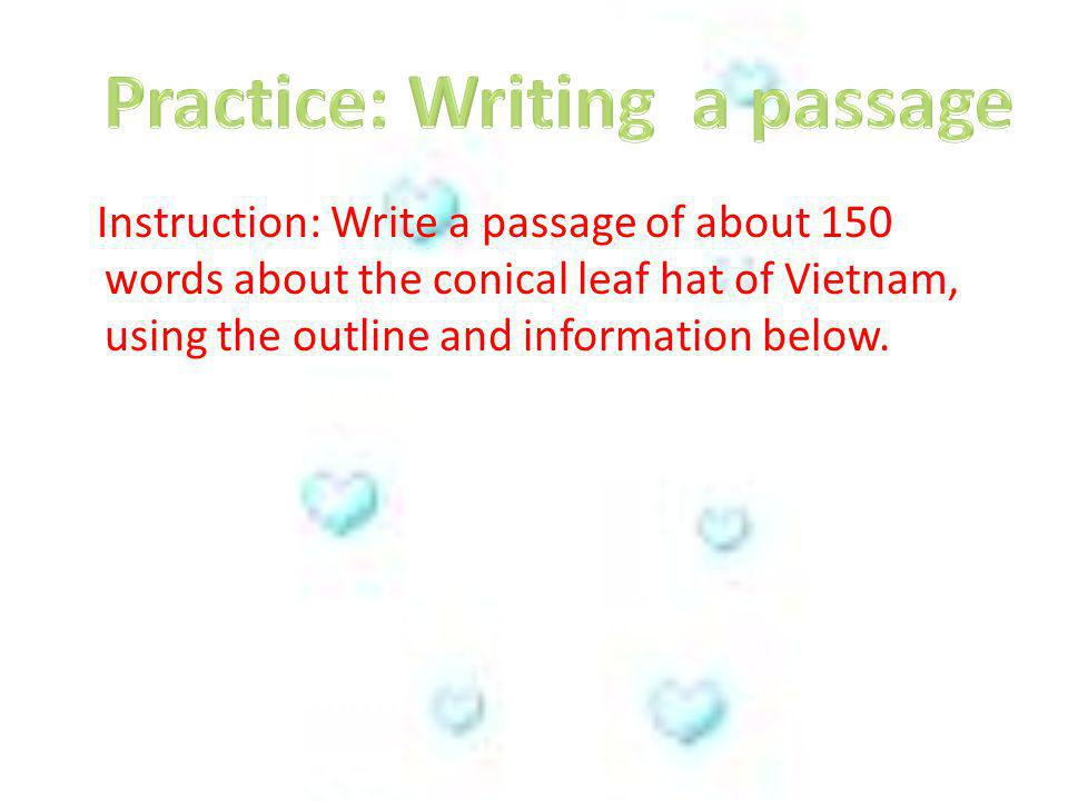 Practice: Writing a passage