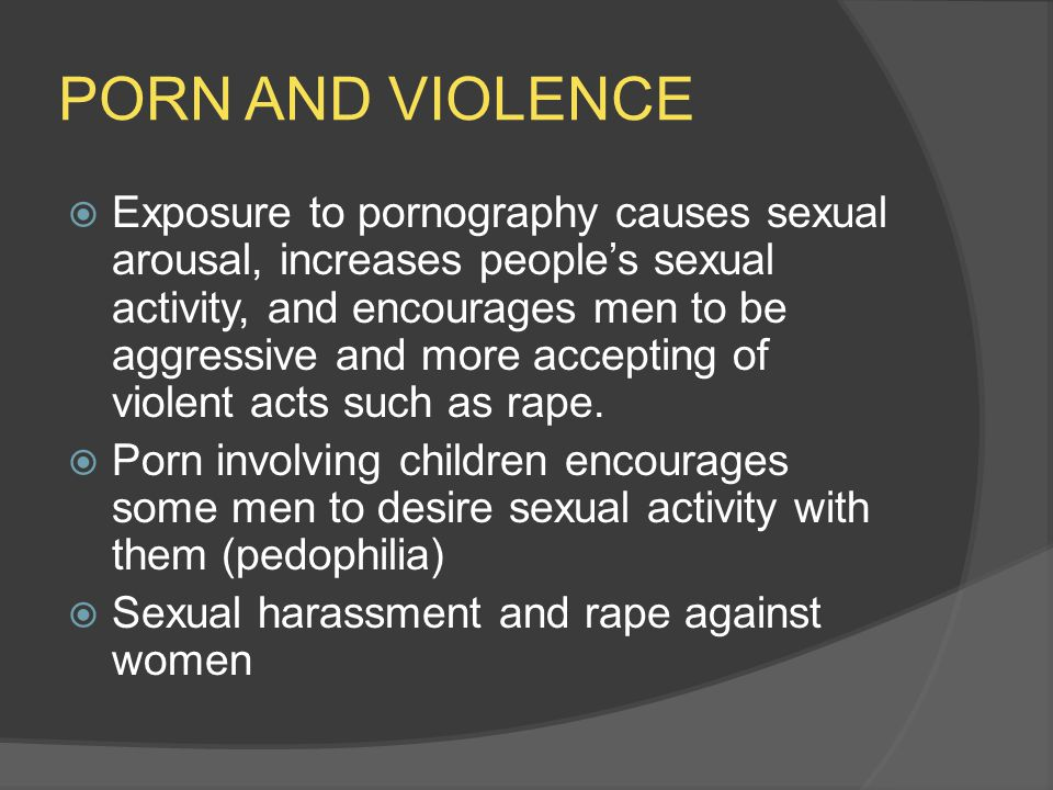 PORN AND VIOLENCE