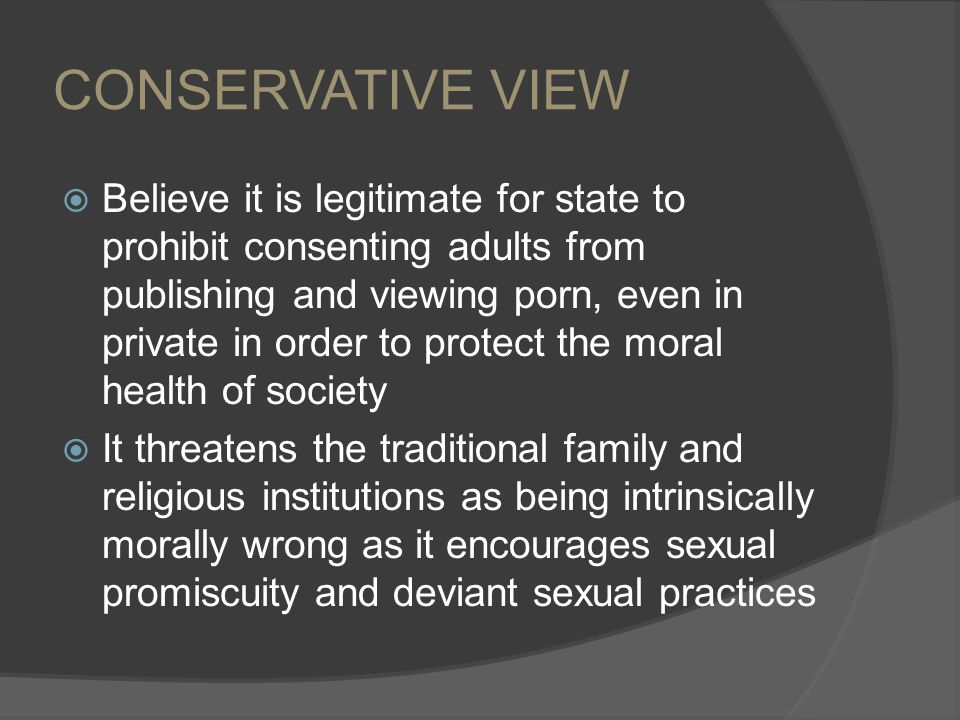 CONSERVATIVE VIEW