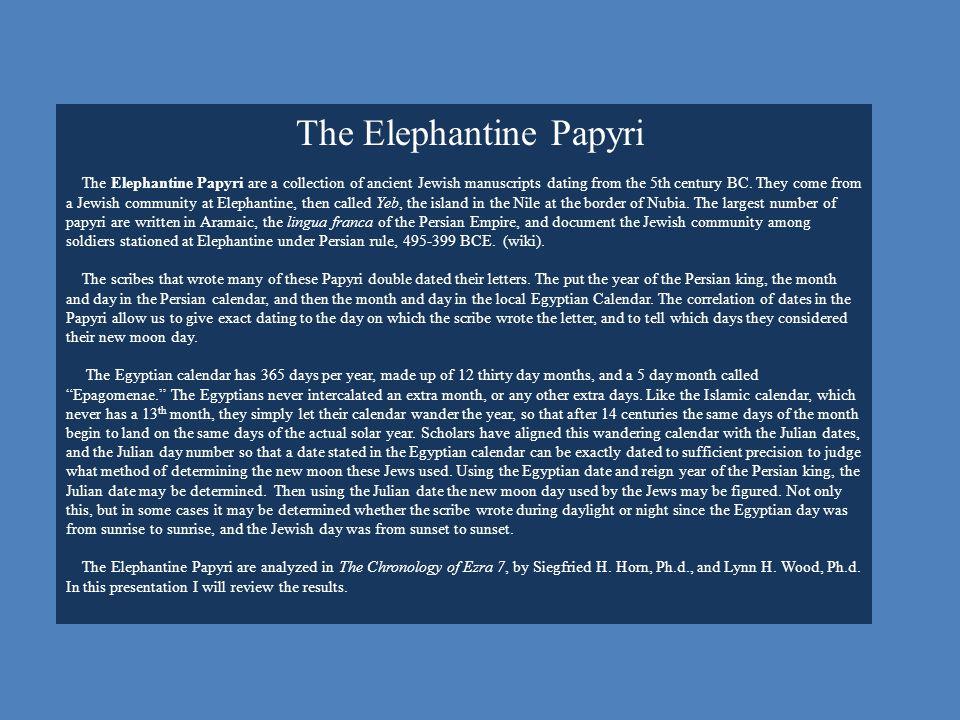 The Elephantine Papyri