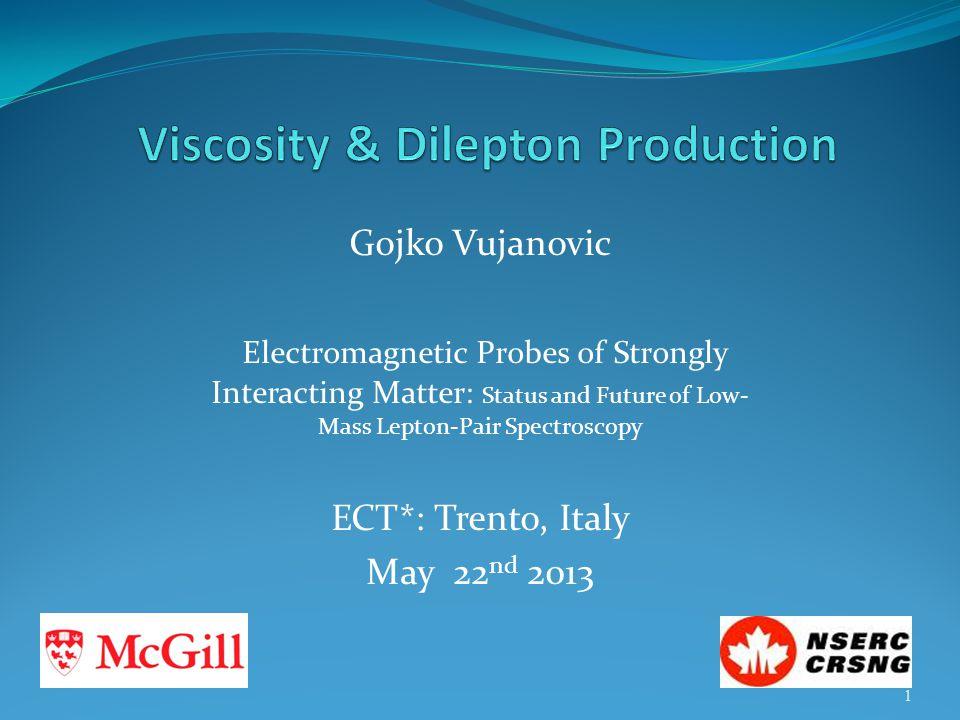 Viscosity & Dilepton Production