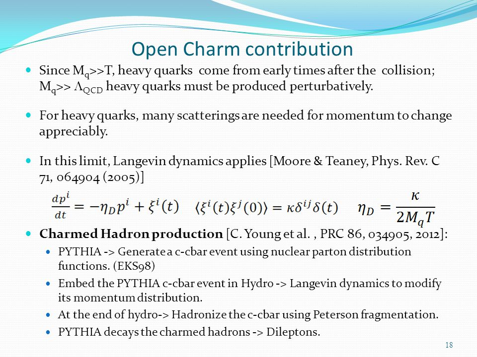 Open Charm contribution