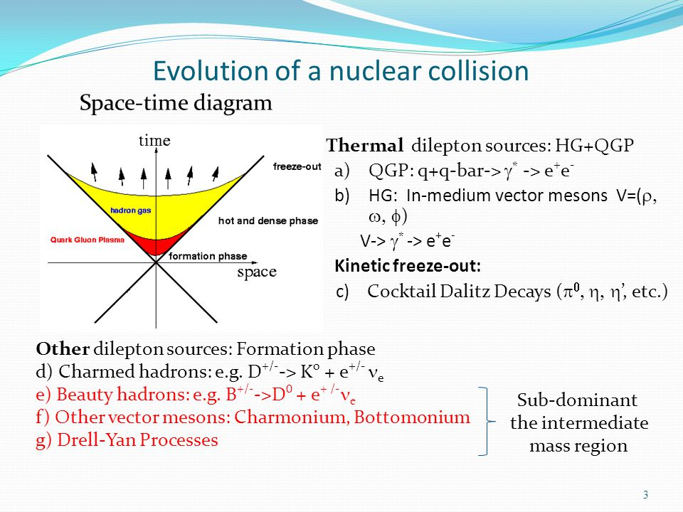 Evolution of a nuclear collision