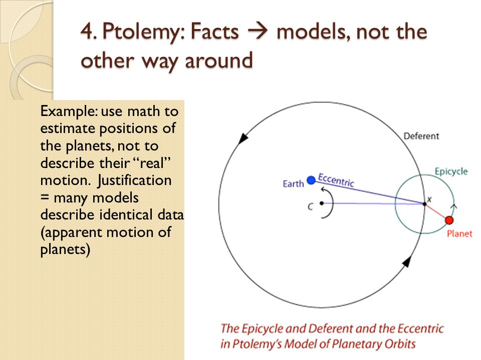 4. Ptolemy: Facts  models, not the other way around