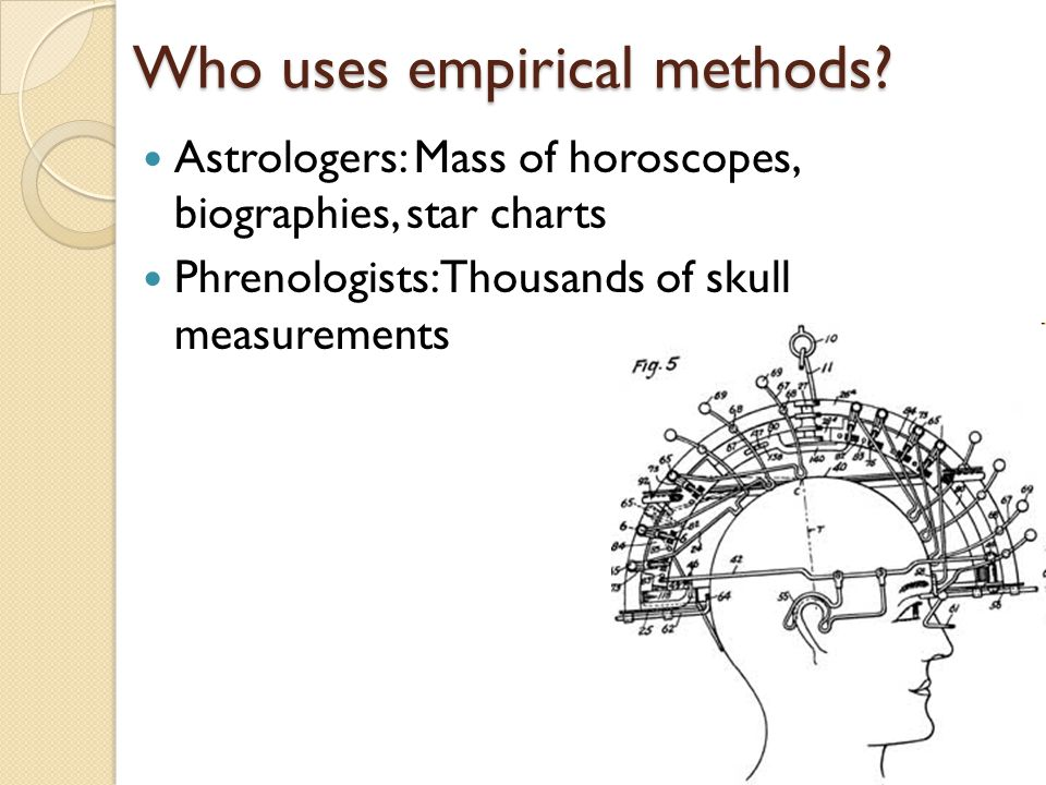 Who uses empirical methods