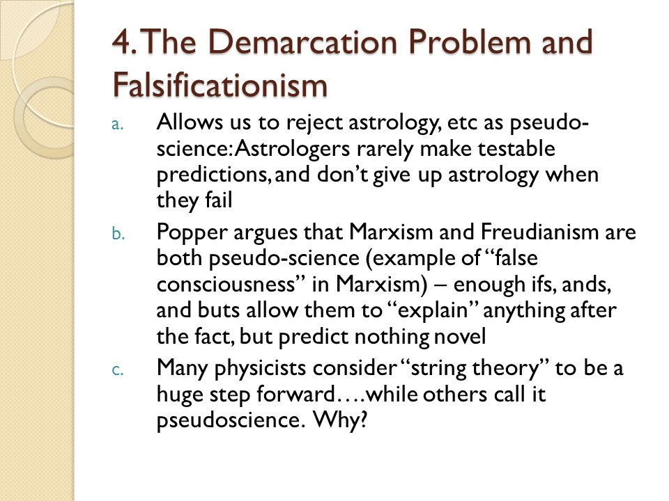 4. The Demarcation Problem and Falsificationism