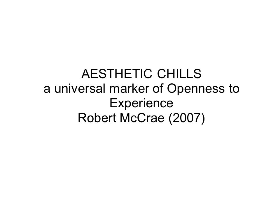 a universal marker of Openness to Experience