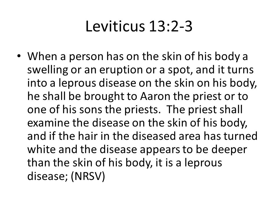 Leviticus 13:2-3