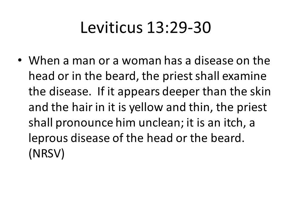 Leviticus 13:29-30