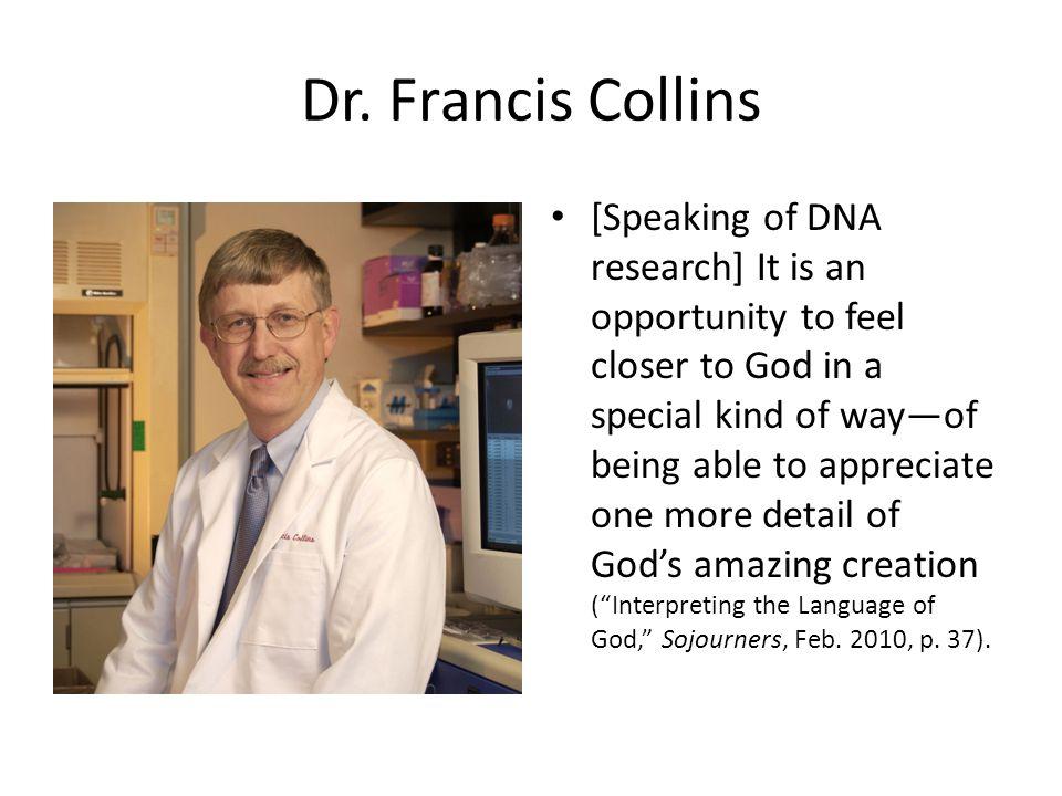 Dr. Francis Collins
