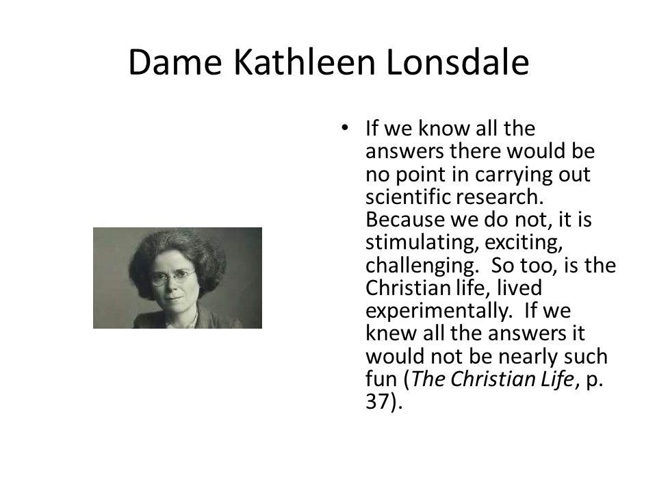 Dame Kathleen Lonsdale