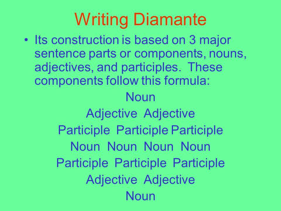 Writing Diamante