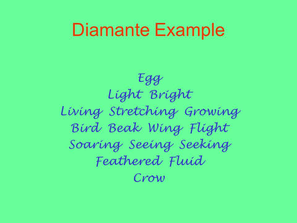 Diamante Example Egg Light Bright Living Stretching Growing