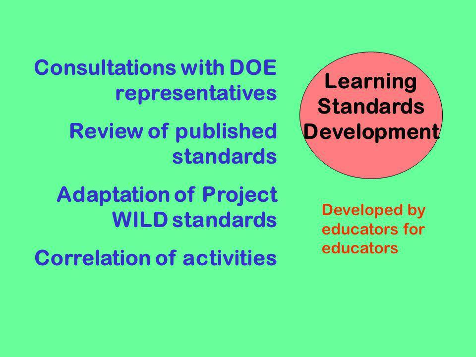 Learning Standards Development