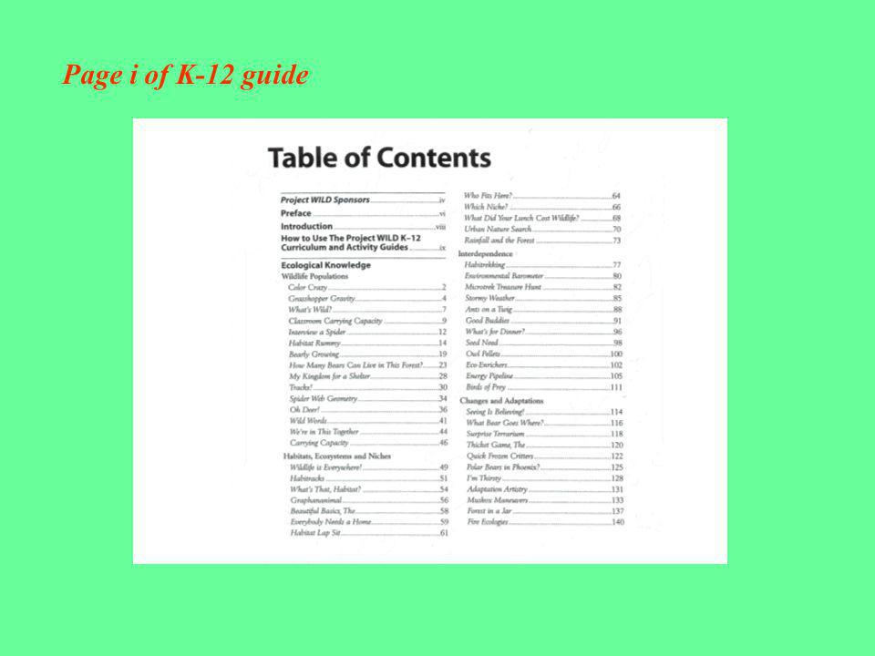 Page i of K-12 guide