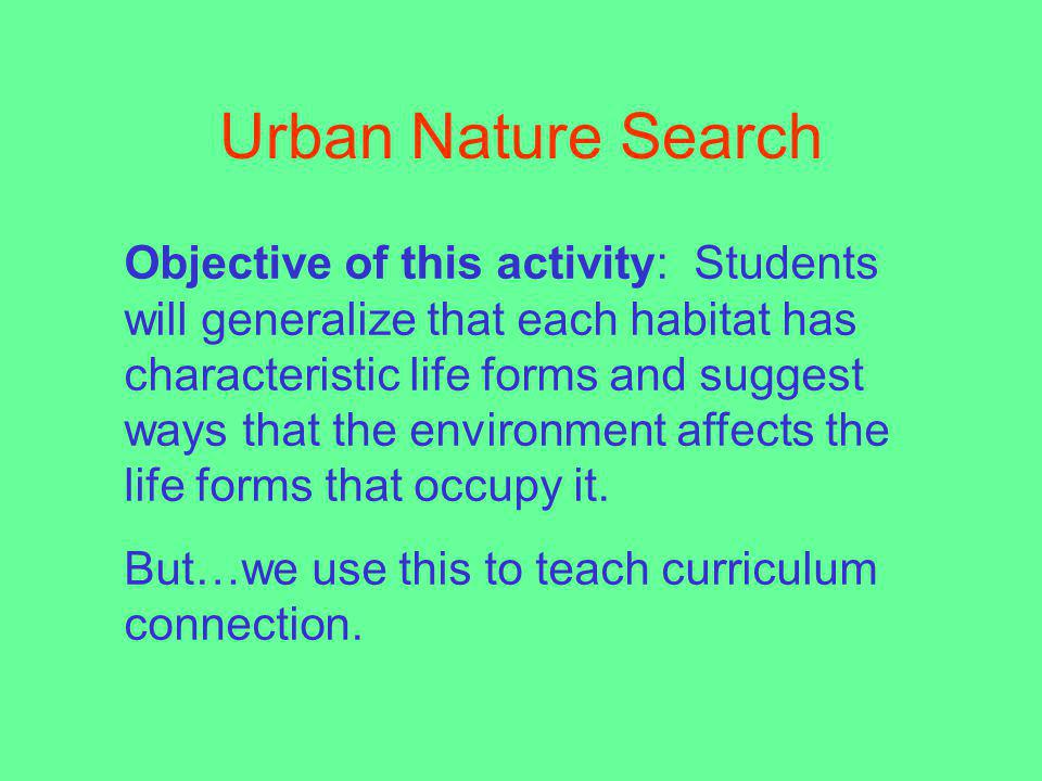 Urban Nature Search
