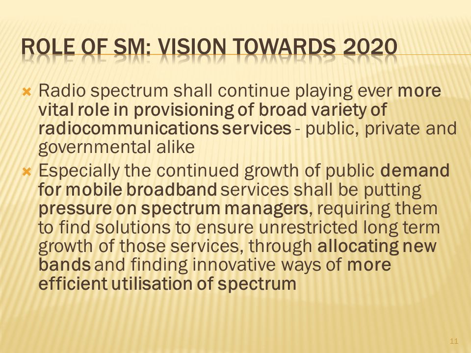 Role of SM: Vision towards 2020
