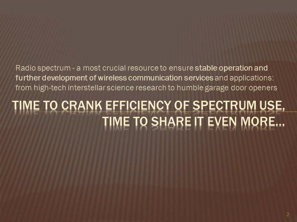 time to crank efficiency of spectrum use, time to share it even more…