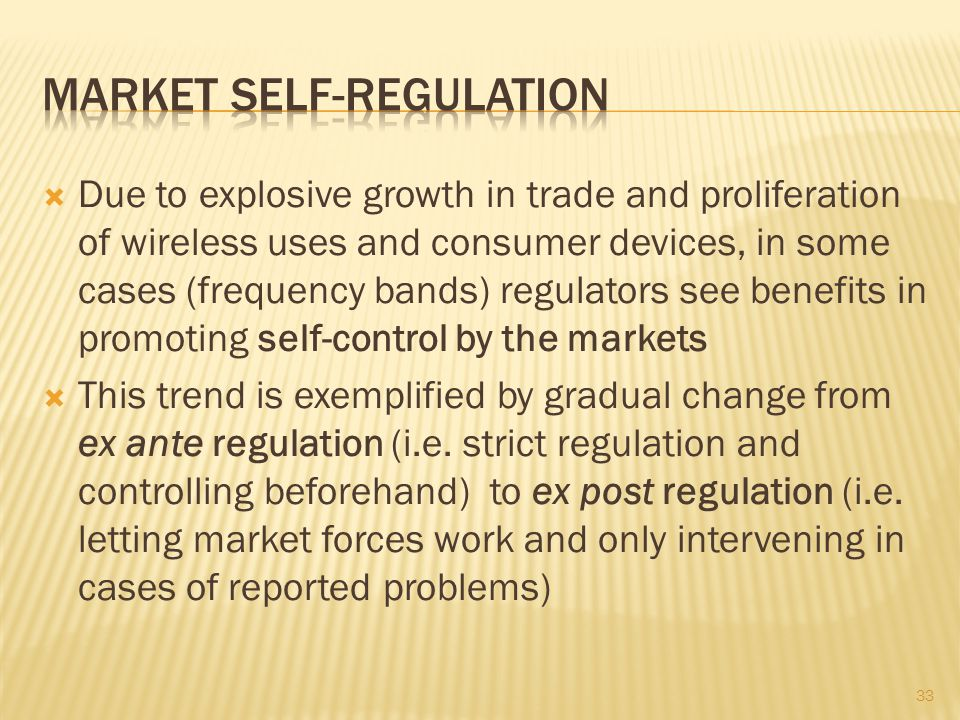 Market self-regulation