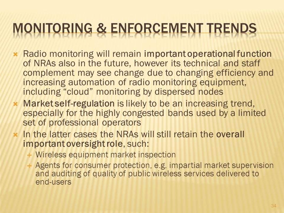Monitoring & Enforcement trends