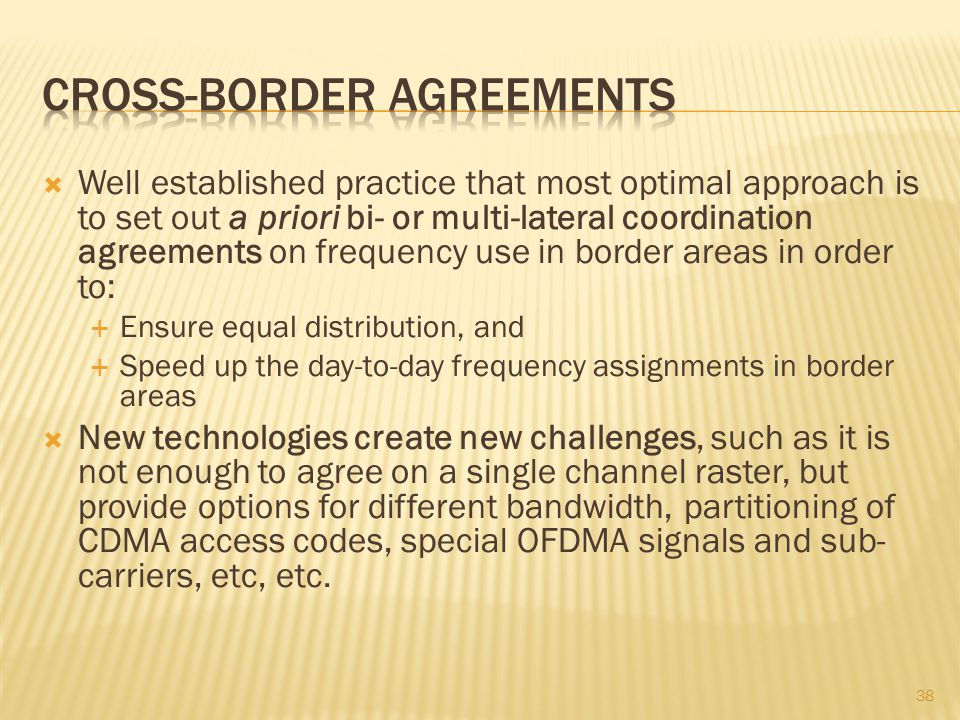 Cross-border Agreements