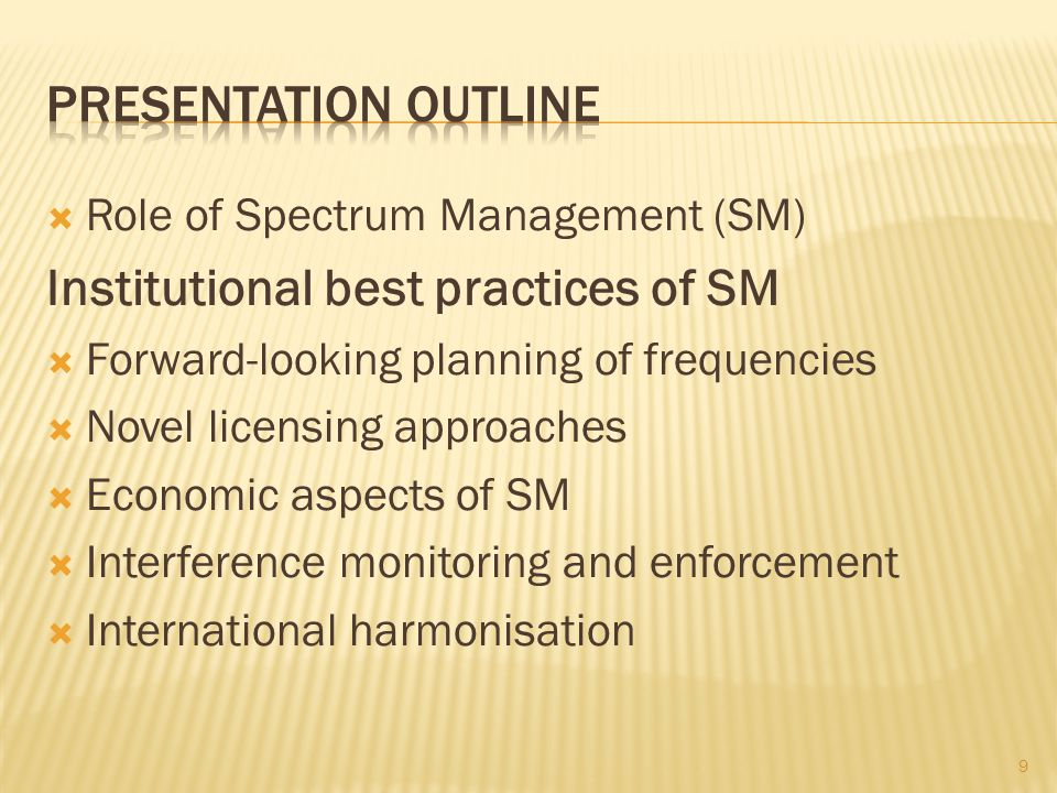 Institutional best practices of SM