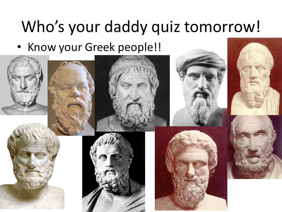 Who's your daddy quiz tomorrow!