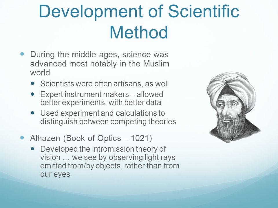 Development of Scientific Method