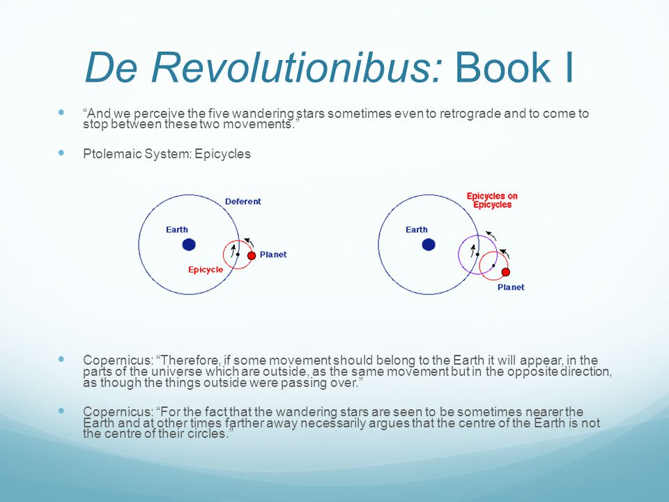 De Revolutionibus: Book I