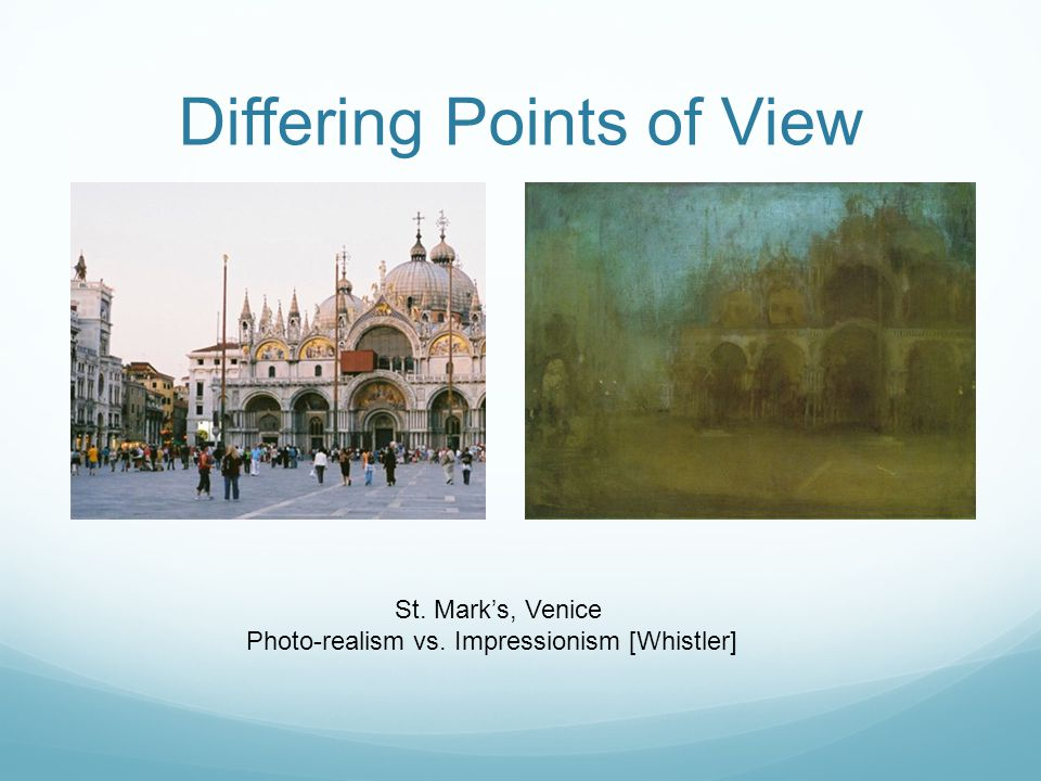 Differing Points of View