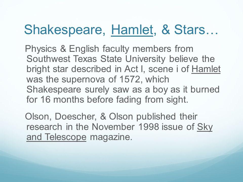 Shakespeare, Hamlet, & Stars…