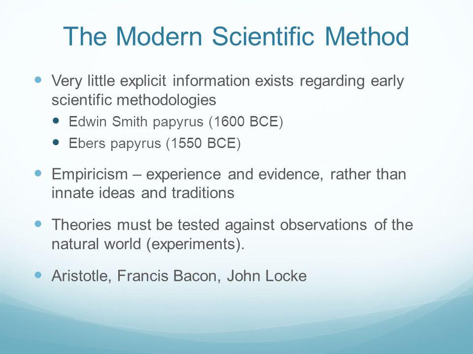The Modern Scientific Method