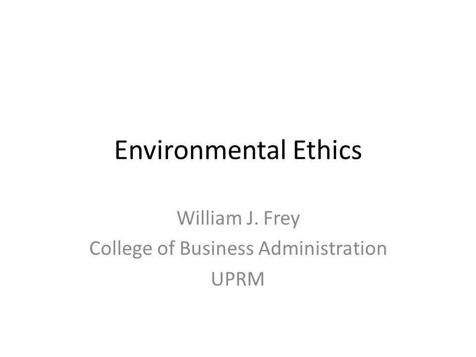 William J. Frey College of Business Administration UPRM