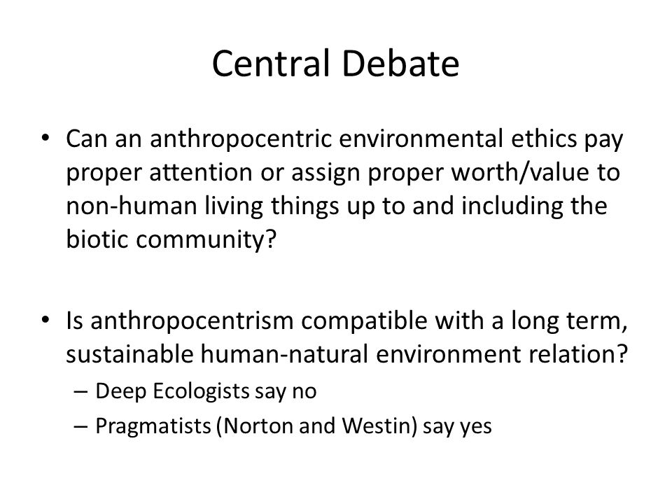Central Debate