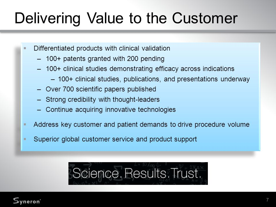 Delivering Value to the Customer