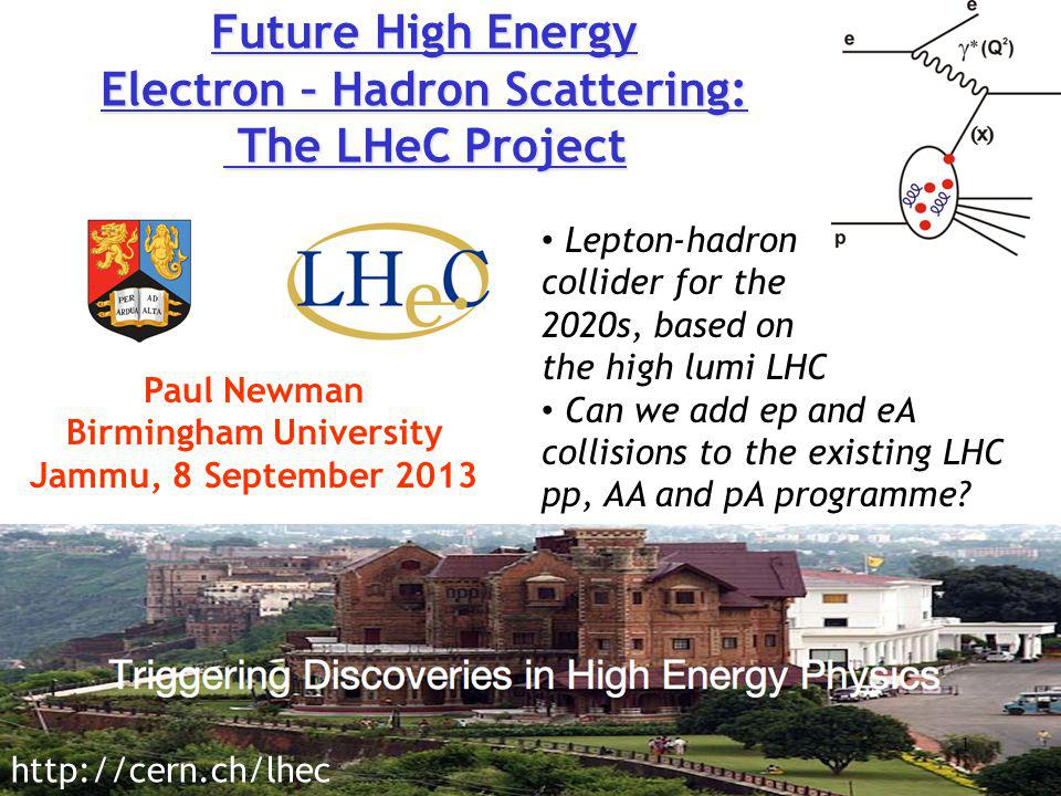 Future High Energy Electron – Hadron Scattering: The LHeC Project