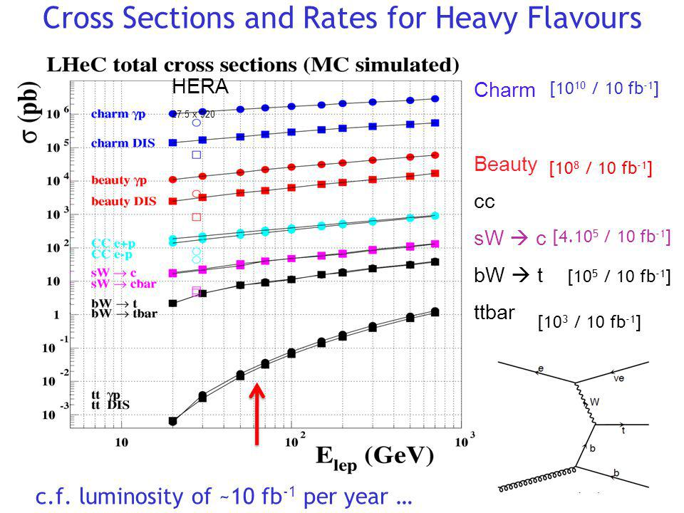 Cross Sections and Rates for Heavy Flavours