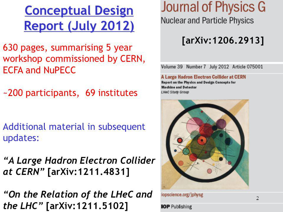 Conceptual Design Report (July 2012)