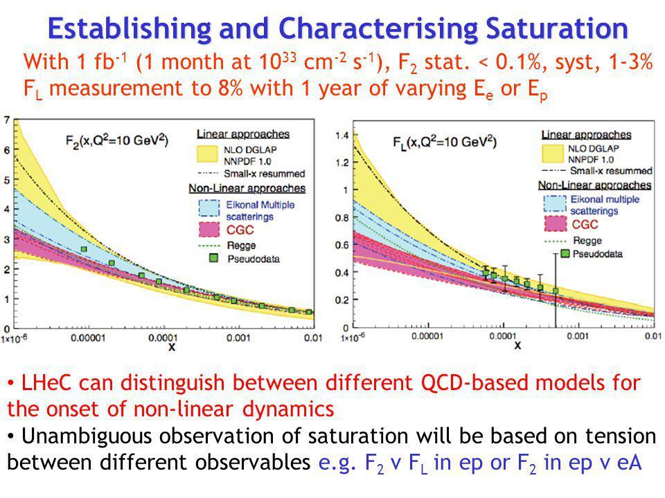 Establishing and Characterising Saturation
