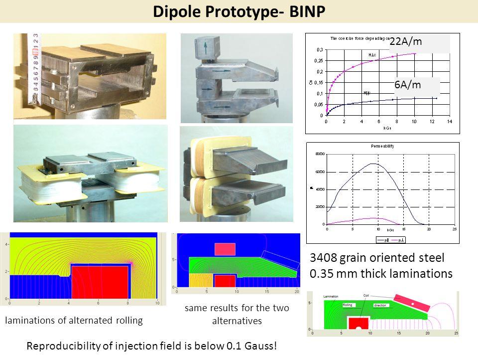 Dipole Prototype- BINP