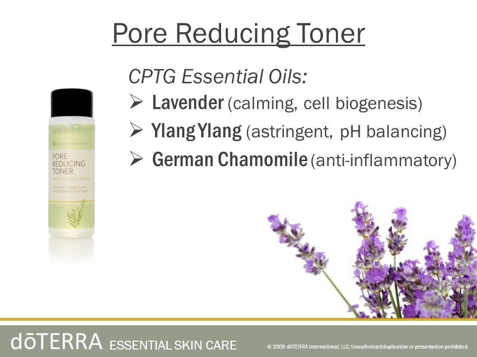 Pore Reducing Toner CPTG Essential Oils: