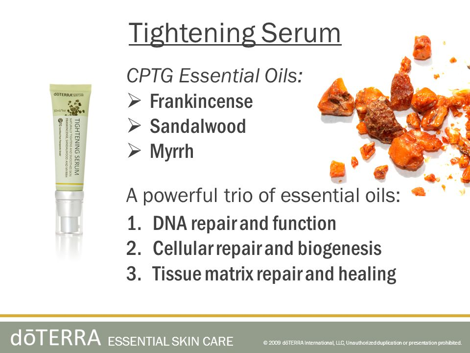 Tightening Serum CPTG Essential Oils: Frankincense Sandalwood Myrrh