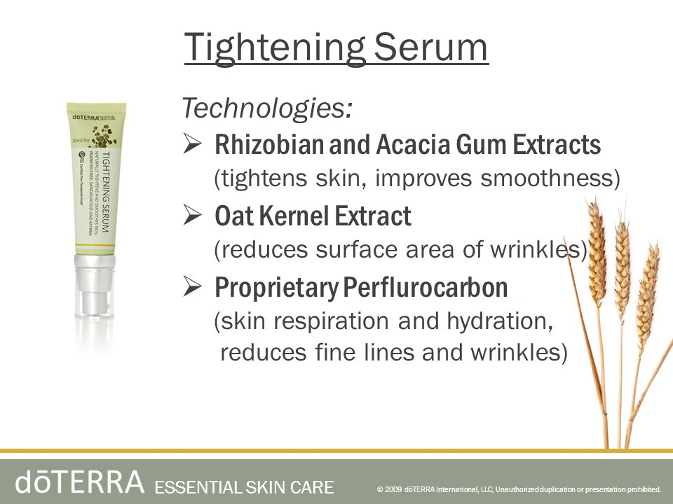 Tightening Serum Technologies: Rhizobian and Acacia Gum Extracts