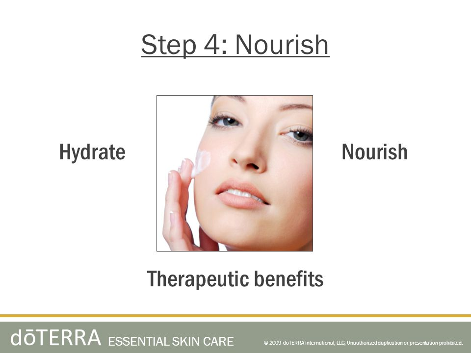 Step 4: Nourish Hydrate Nourish Therapeutic benefits