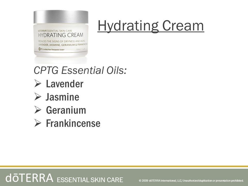 Hydrating Cream CPTG Essential Oils: Lavender Jasmine Geranium