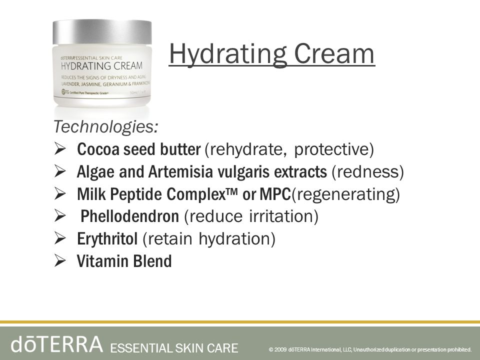 Hydrating Cream Technologies: