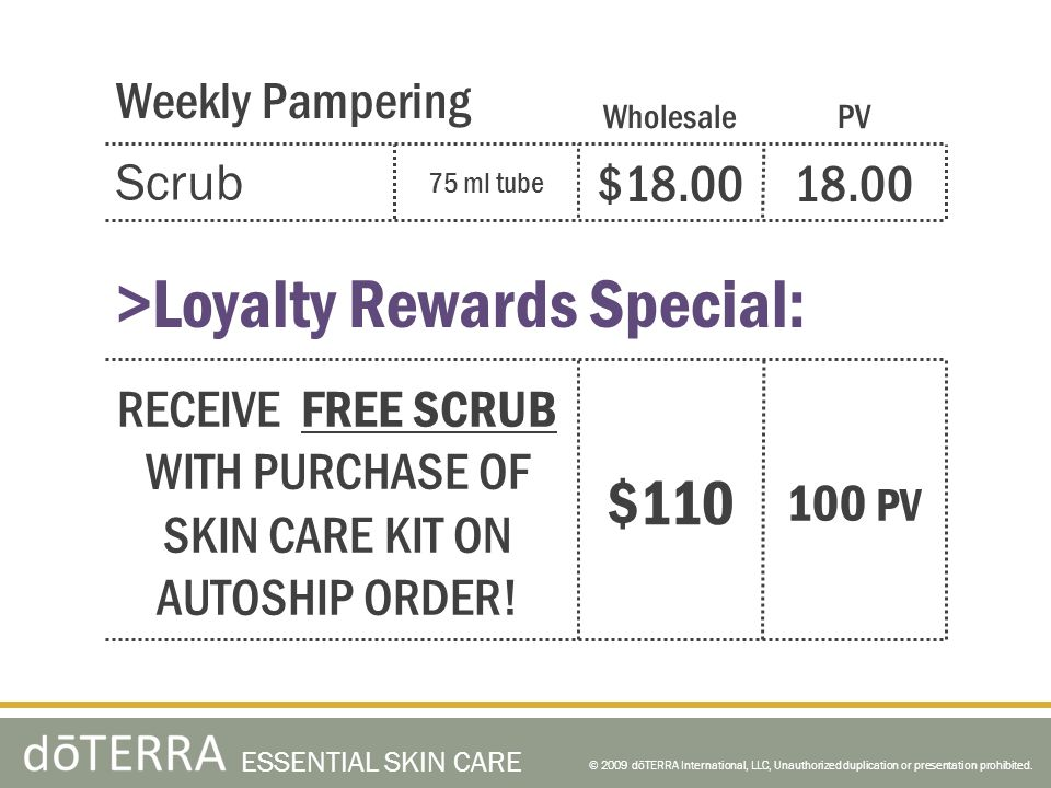 RECEIVE FREE SCRUB WITH PURCHASE OF SKIN CARE KIT ON AUTOSHIP ORDER!