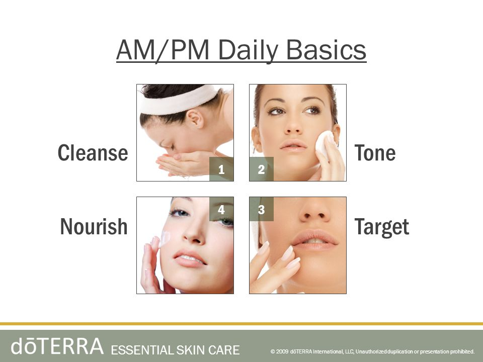 AM/PM Daily Basics Cleanse Tone Nourish Target 1 2 4 3